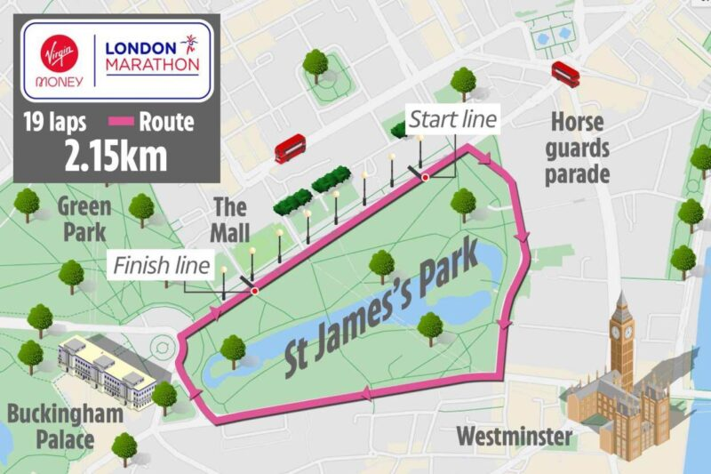 London-Marathon-2020-Map