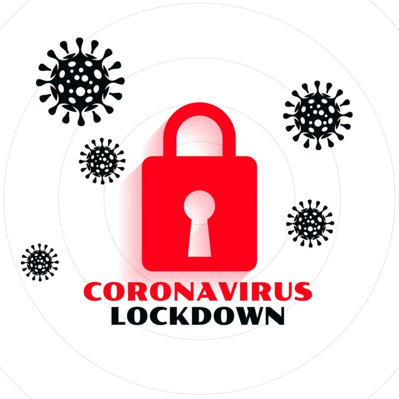 coronavirus pandemic covid-19 lockdown concept background design